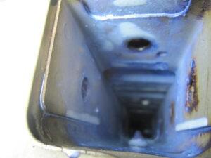 CP9Aランエボ モノコックフレーム内部 黒錆転換処理