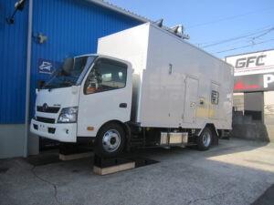 東京電力 電源車 ジーバート防錆施工