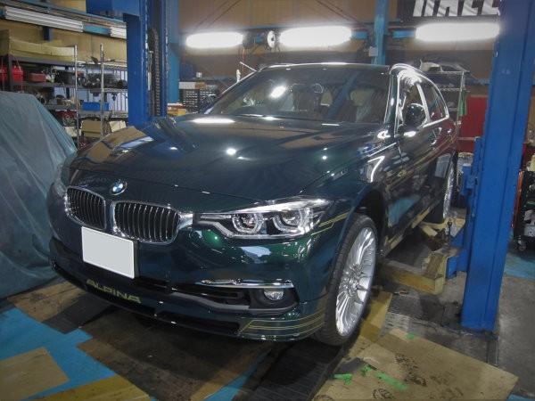 BMWアルピナB3ツーリング 防錆作業